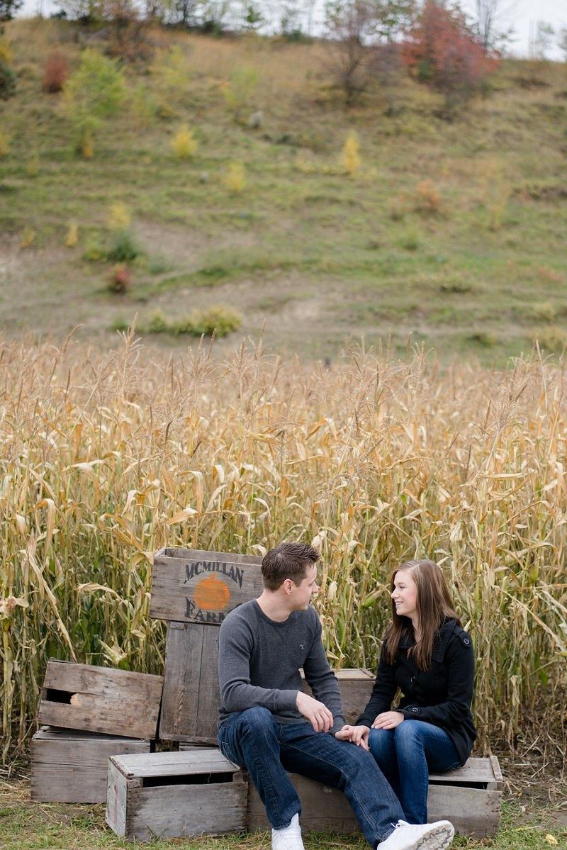 Fall Engagement Photos at McMillan Farms