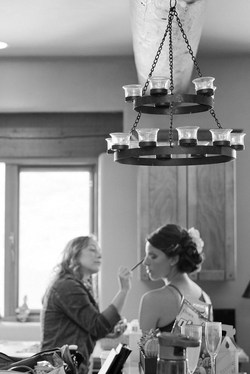 Getting ready at wedding in kelowna
