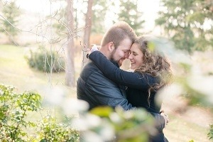 forest themed engagement photography
