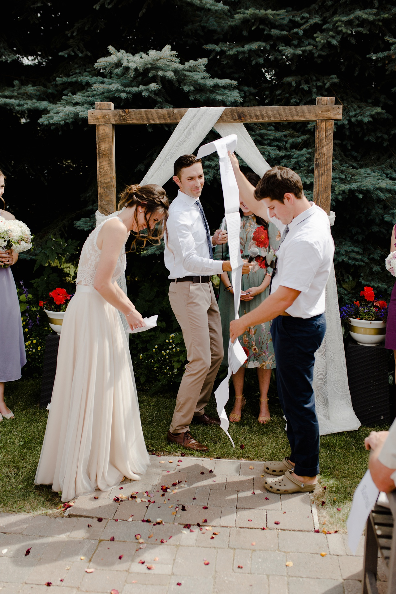 Backyard wedding in Lake Country